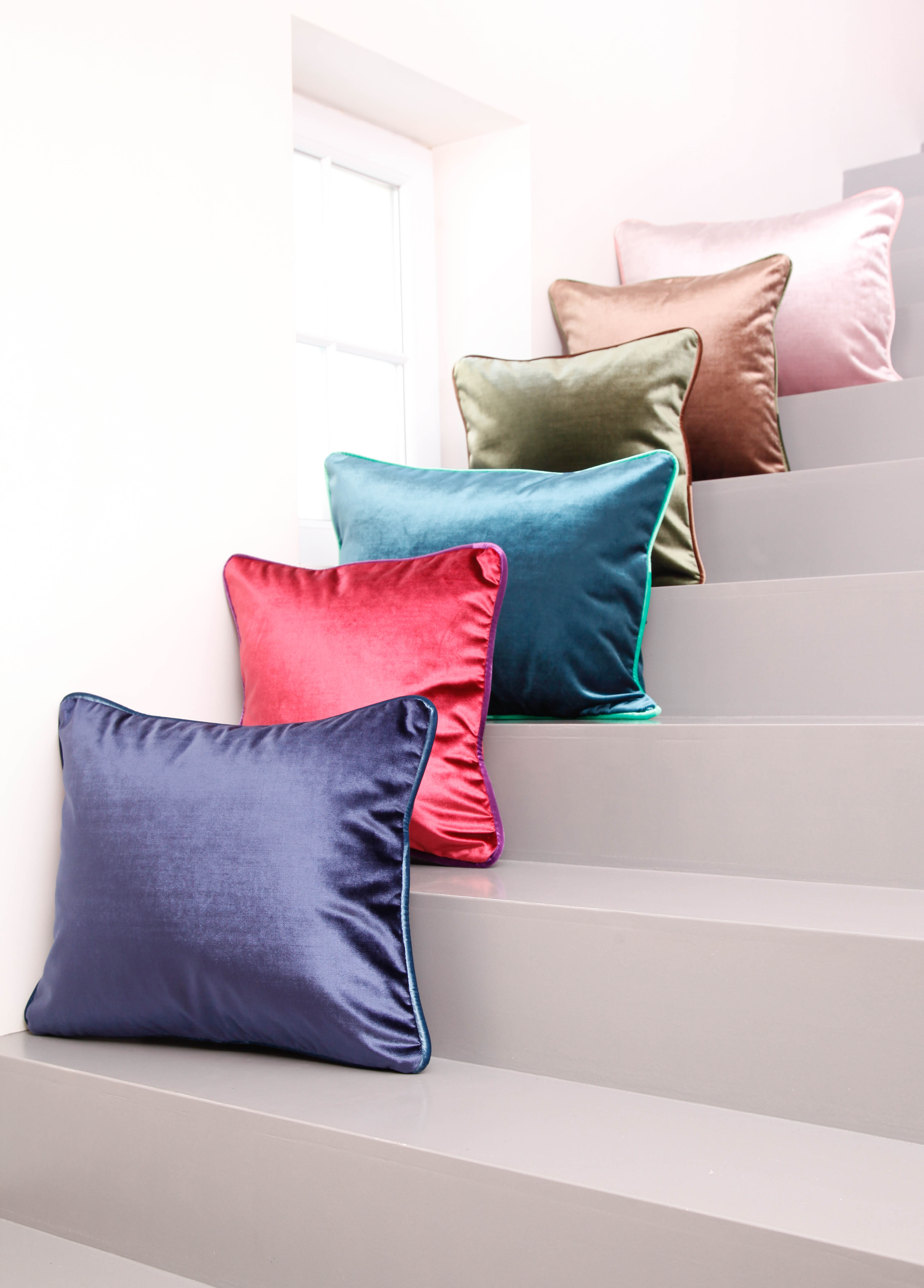 Coussins velours luxe