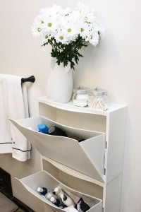 Rangement Trones Ikea version salle de bain - Photo Pinterest