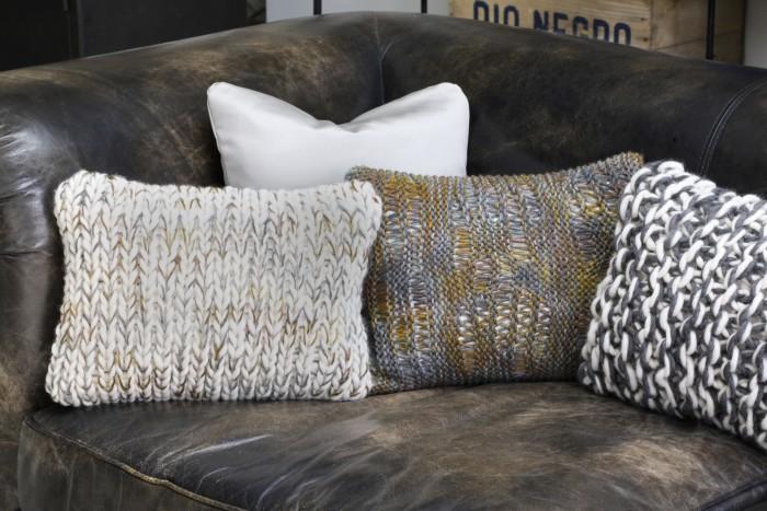Coussins en très grosse laine