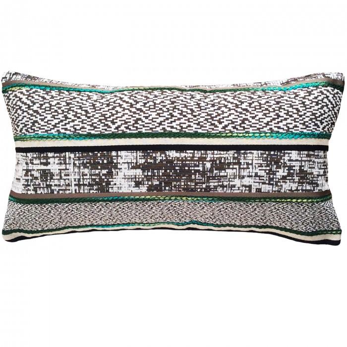 Coussin luxe vert rectangulaire pour canapé 30x60