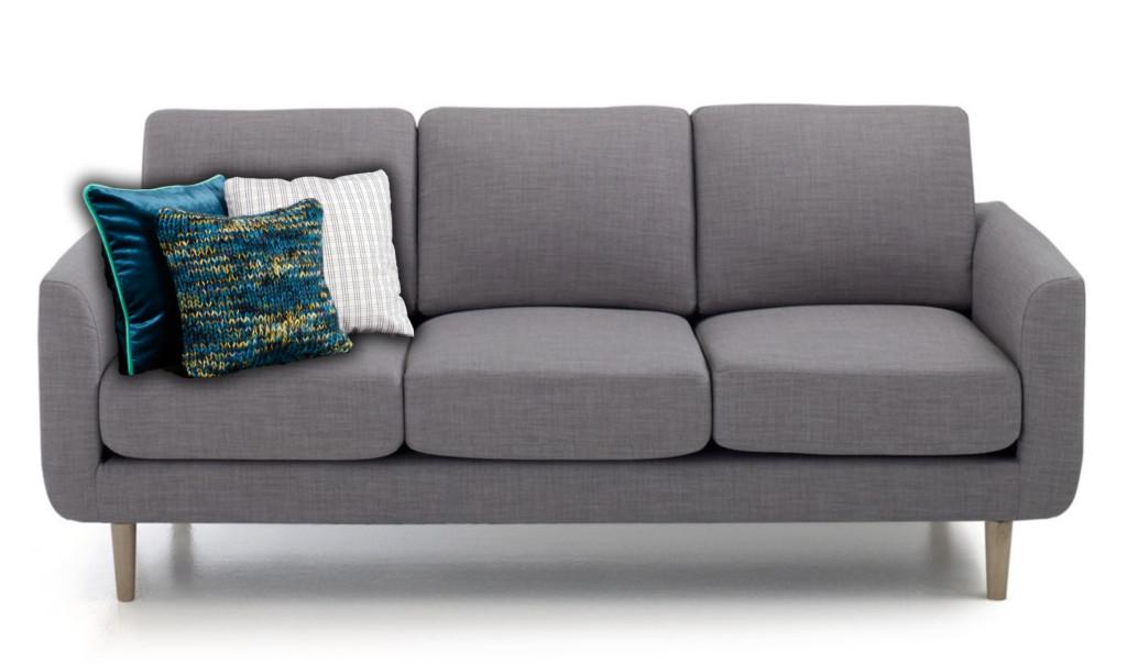 Coussins décoratifs pour canapé gris