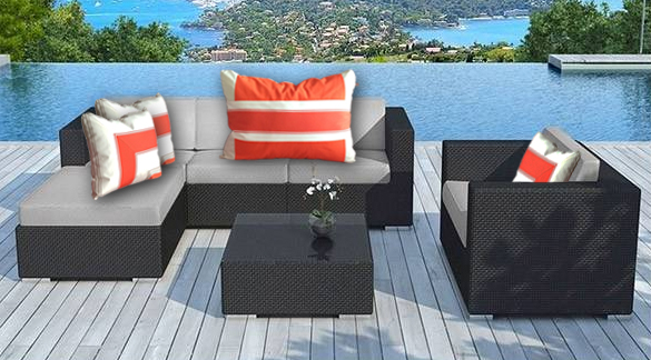coussin exterieur haut de gamme. Black Bedroom Furniture Sets. Home Design Ideas