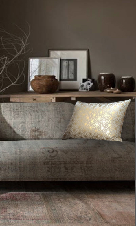 Coussin dore luxe