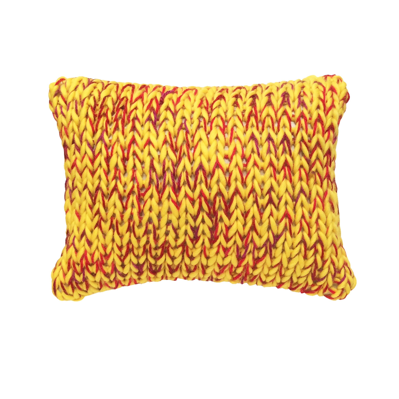 Coussin laine grosse maille le plaisir du fait main - Laine grosse maille ...