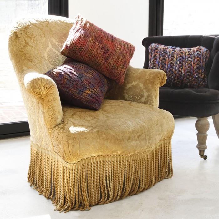Coussin laine grosse maille haut de gamme