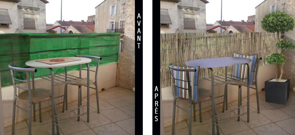 Coussins d'extérieur pour balcon en ville