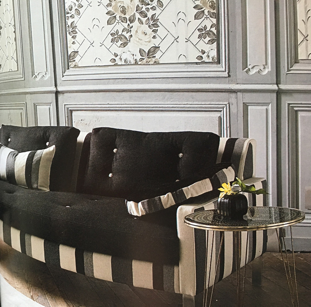 Coussin d'assise pour canapé noir