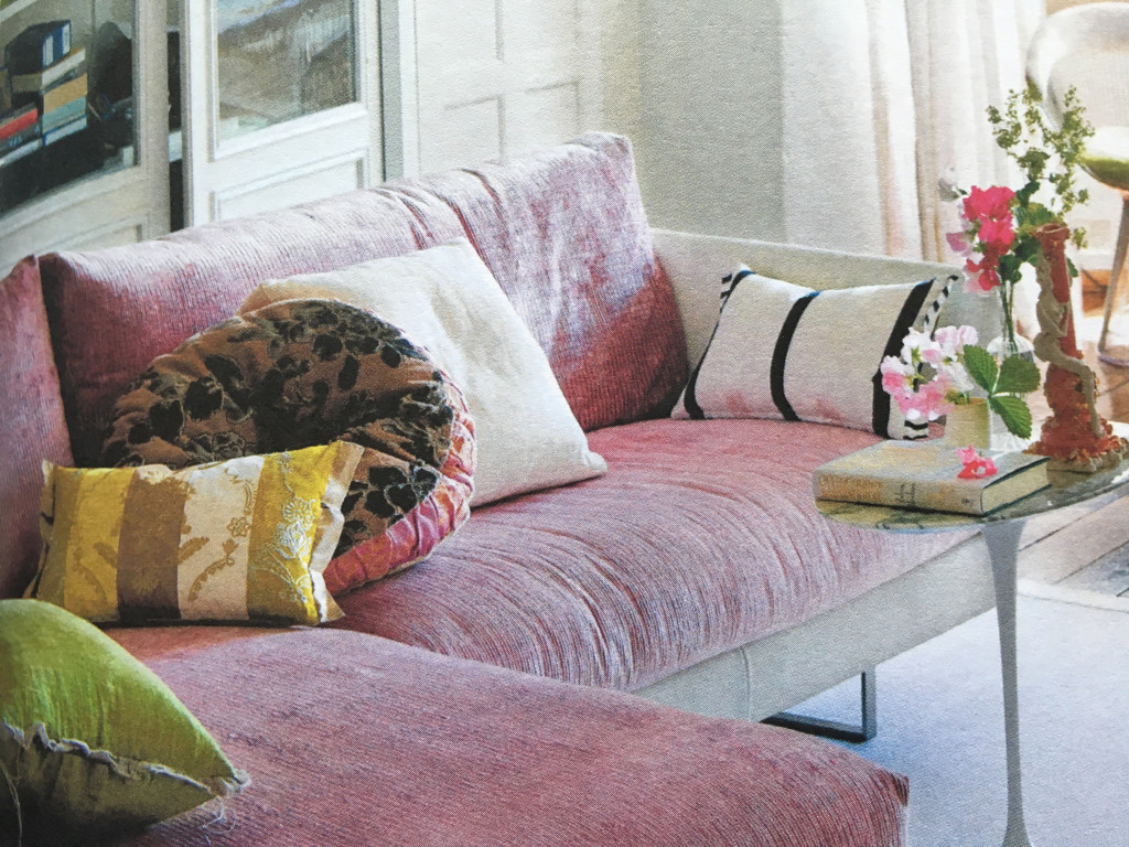 Coussin d'assise rose