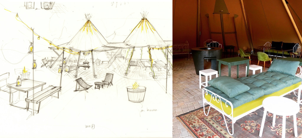Croquis architecte Nutchel café