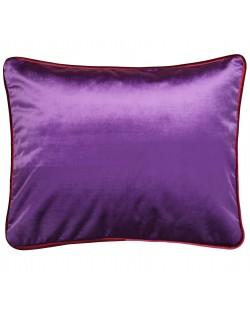 Coussin en velours violet