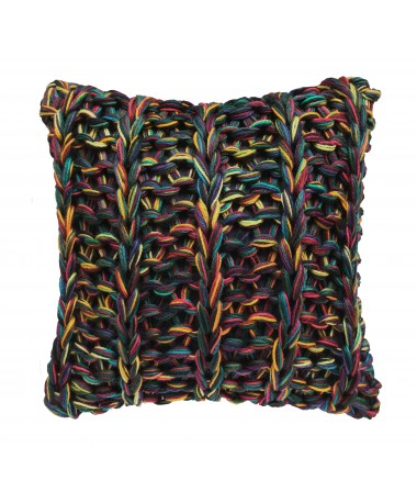 Coussin grosse maille pure laine