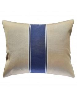 Le Touquet - Coussin extérieur bleu et beige