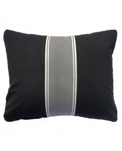 Malo - Coussin extérieur noir et gris