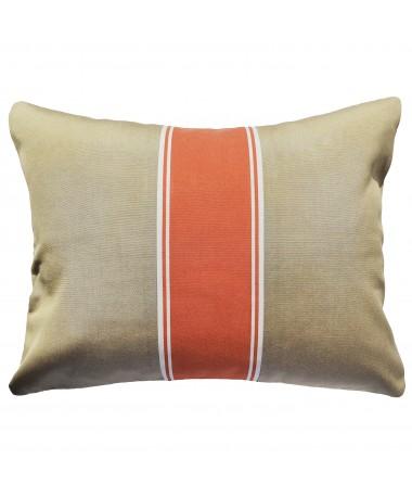 Berck - Coussin extérieur beige et orange