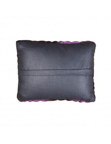 Coussin grosse laine violet