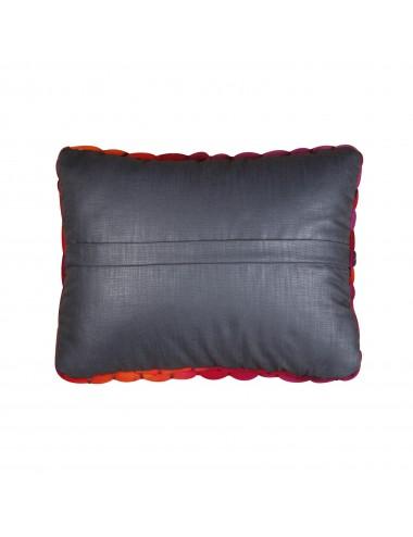 Coussin grosse laine orange