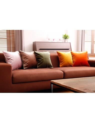 Coussins en velours de luxe orange et jaunes