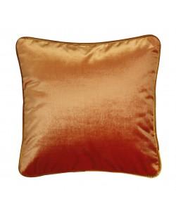 Coussin en velours orange