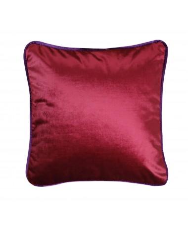 Coussin en velours rouge