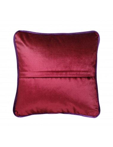 Coussin velours rouge cassis
