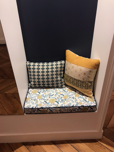 Coussin banc assise entree